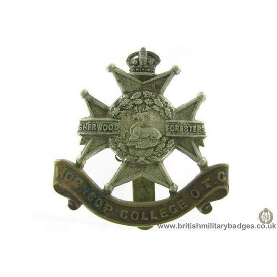 A1G/47 - Worksop College Officers Training Corps OTC Cap Badge