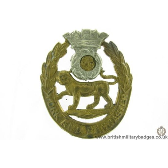 A1G/50 - VICTORIAN / EDWARDIAN York & Lancaster Cap Badge - LUGS