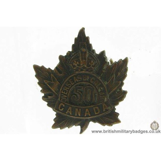 A1G/84 - 50th (Calgary) Canadian Overseas Battalion Cap Badge