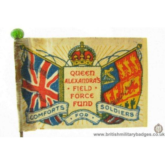 K1B/74 - WW1 Queen Alexandra's Field Force Fund Flag Pin Badge