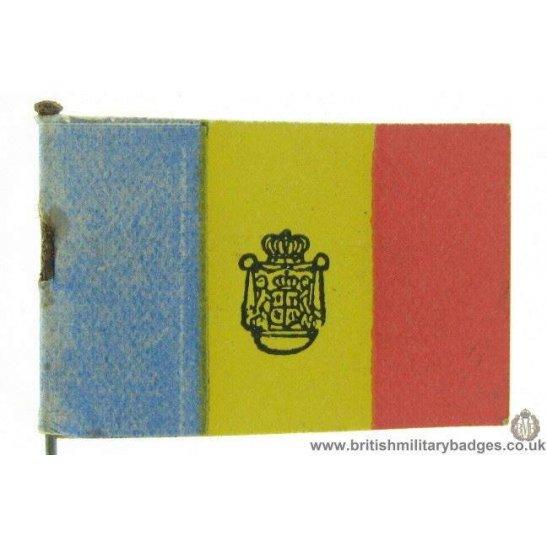 K1B/89 - WW1 Help Romania Flag Day Fundraising Pin Badge