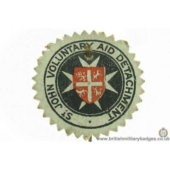 K1B/97 - WW1 St Johns Voulnatry Aid Detachment Fund Pin Badge
