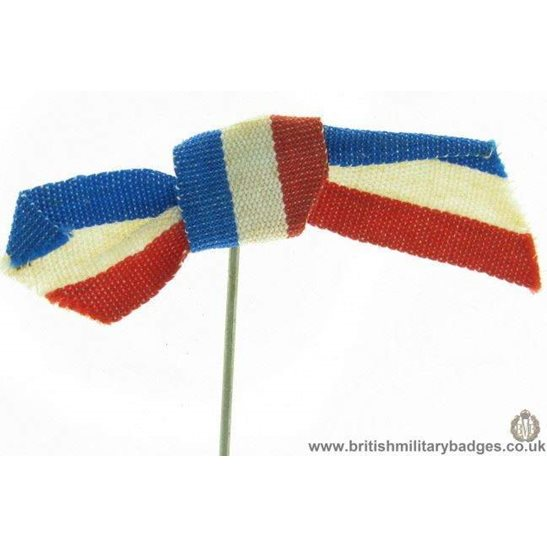 K1C/12 - WW1 Help France, French Colours Flag Day Fund Pin Badge