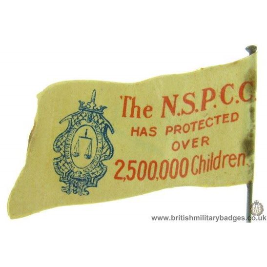 K1C/32 - NSPCC Childrens Charity Flag Day Fundraising Pin Badge