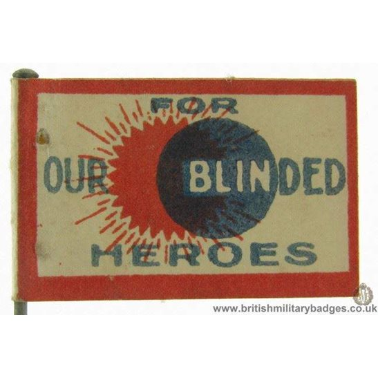 K1C/41 WW1 For Our Blinded Heroes Flag Day Fundraising Pin Badge