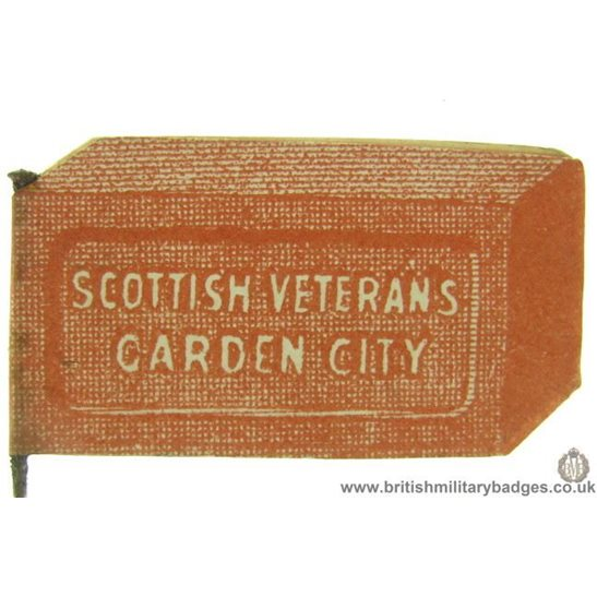 K1C/50  WW1 Scottish Veteran Soldiers Garden City Flag Day Badge