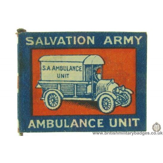 K1C/57 - WW1 Salvation Army Ambulance Unit Flag Day Pin Badge