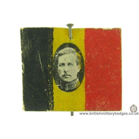 K1C/72 - WW1 Belgium / Belgian Flag Day Fundraising Pin Badge