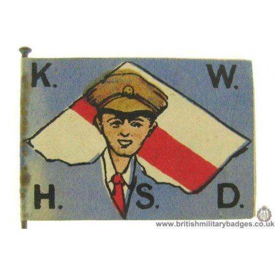 K1C/74 - WW1 Kensington War Hospital Fundraising Flag Day Badge