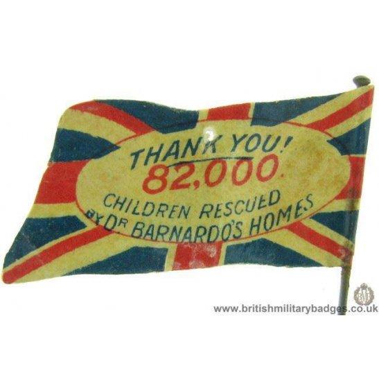 K1C/83  Dr Barnardos Homes Childrens Charity Flag Day Fund Badge
