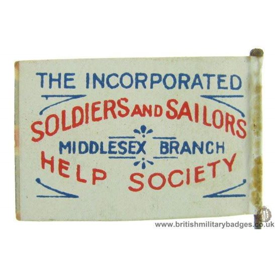 K1C/84 - WW1 Soldiers & Sailors Help Society Middlesex Pin Badge