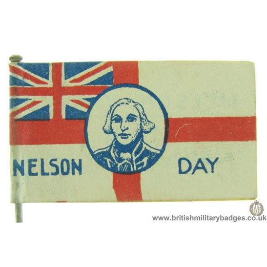 K1C/88 - WW1 Nelson Day Royal Navy League Fund Flag Pin Badge