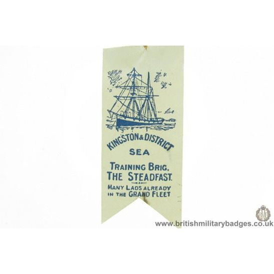 K1C/90 - WW1 Kingston & District Sea Training Brigade Flag Badge