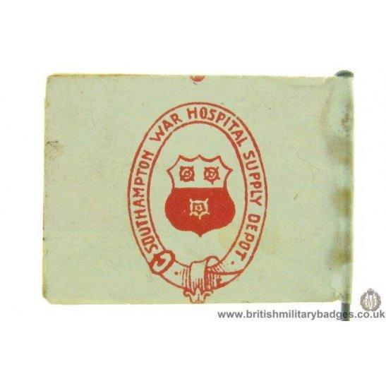 K1C/91 - WW1 Southampton War Hospital Supply Depot Flag Badge