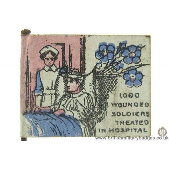K1D/08 - WW1 East End / West Ham Hospital Wounded Soldiers Badge