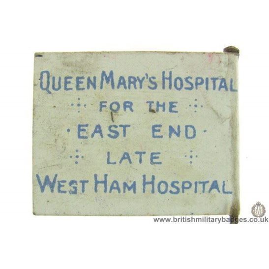 additional image for K1D/08 - WW1 East End / West Ham Hospital Wounded Soldiers Badge