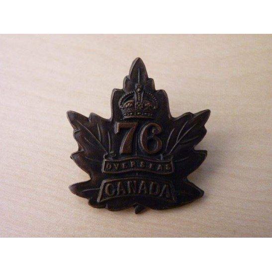 VC09/049 - 76th Canadian Overseas Battalion Collar Badge