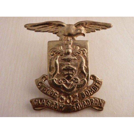 A55/028 - 602 City of Glasgow Bomber Squadron Cap Badge