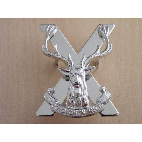 A55/043 -Highland Regiment Infantry Brigade Staybright Cap Badge