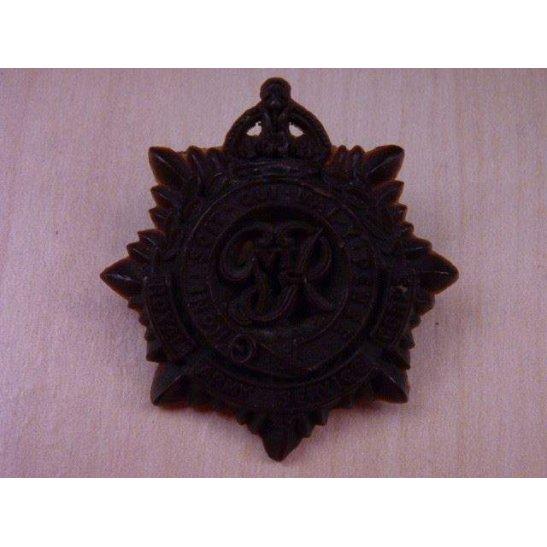 Q55/004 - RASC Royal Army Service Corps PLASTIC Cap Badge