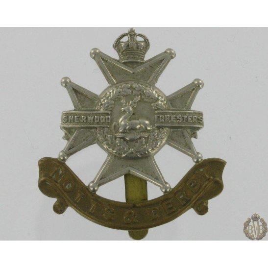 """1A/003 - Sherwood Forresters """"Notts & Derby"""" Regiment Cap Badge"""