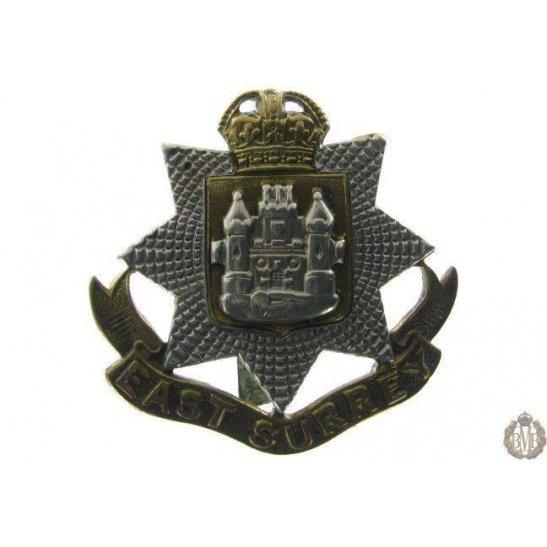 1B/017 - East Surrey Regiment Cap Badge