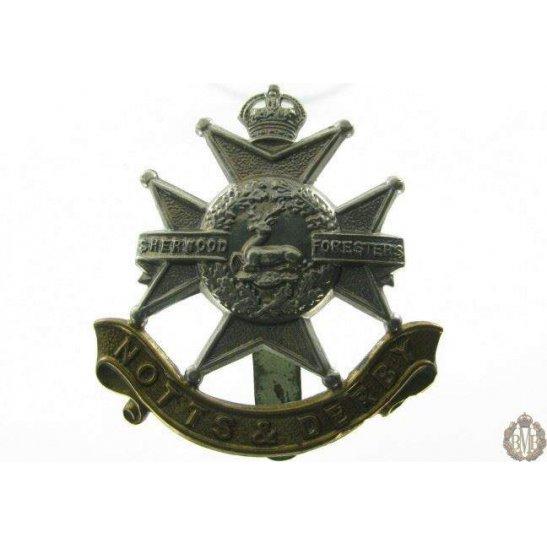 """1B/021 - Sherwood Forresters """"Notts & Derby"""" Regiment Cap Badge"""