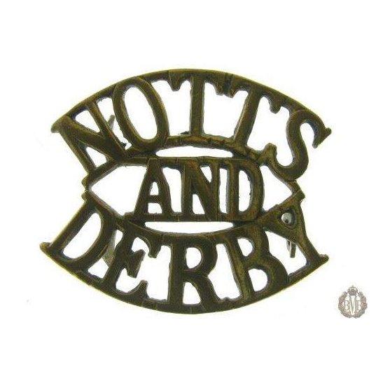"""1E/001 - Sherwood Forresters """"Notts & Derby"""" Regt Shoulder Title"""