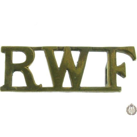 1F/023 - Royal Welsh Fusiliers Regiment RWF Shoulder Title Welch