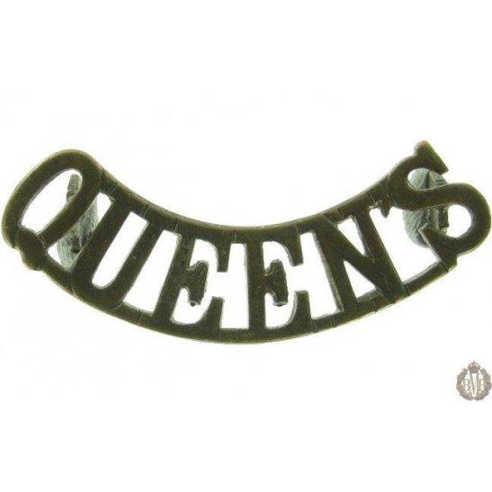 1F/024 - Queen's West Surrey Regiment Queens Shoulder Title