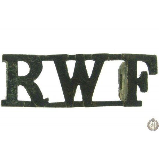 1F/030 - Royal Welsh Fusiliers Regiment RWF Shoulder Title Welch