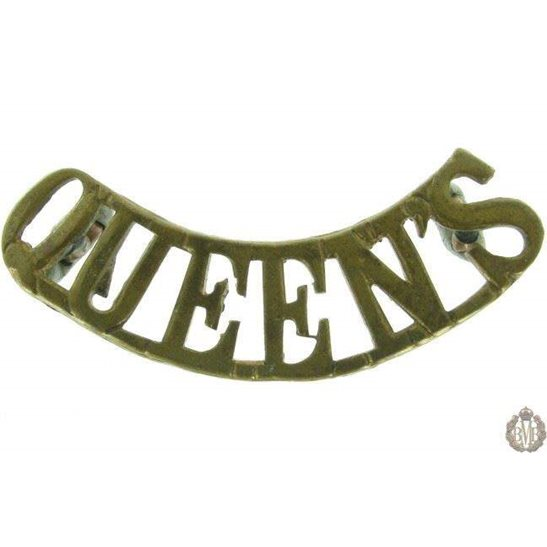 1F/039 - Queen's West Surrey Regiment Queens Shoulder Title