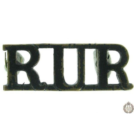 1F/052 - Royal Ulster Rifles Regiment RUR Shoulder Title