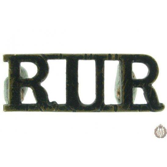 1F/058 - Royal Ulster Rifles Regiment RUR Shoulder Title