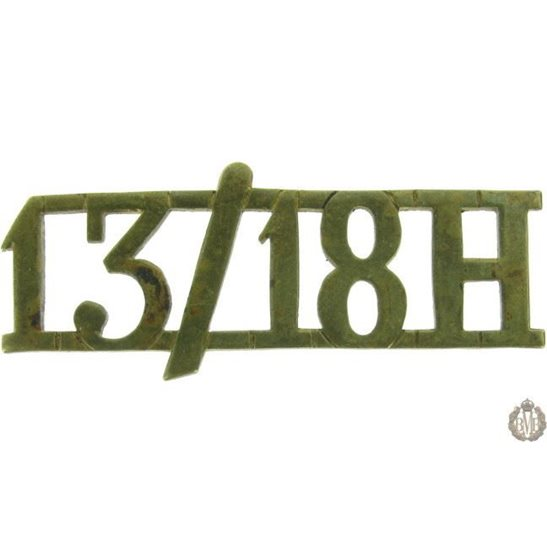 1F/082 - 13th/18th Hussars Regiment Shoulder Title