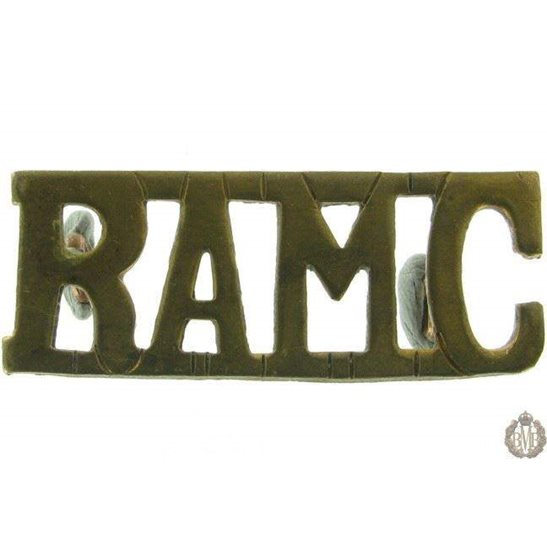1F/114 - Royal Army Medical Corps RAMC Shoulder Title