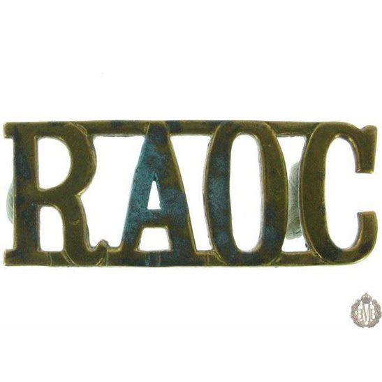 1F/115 - Royal Army Ordnance Corps RAOC Shoulder Title