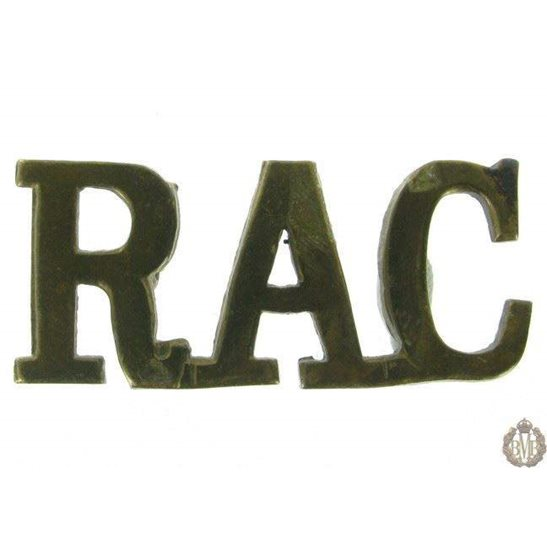 1F/116 - Royal Armoured Corps RAC Shoulder Title