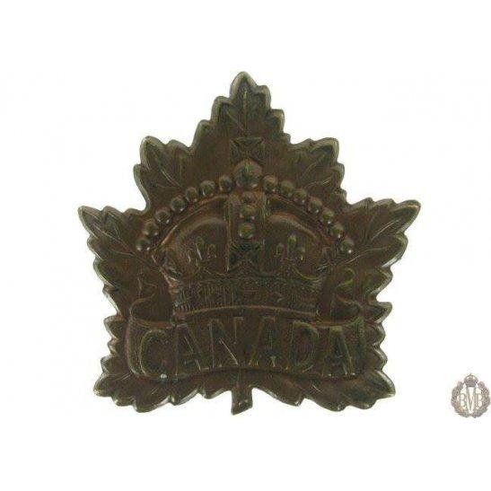 1G/009 - Canadian Division / Canada Corps Cap Badge