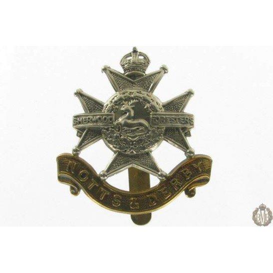 """1I/064 - Sherwood Forresters """"Notts & Derby"""" Regiment Cap Badge"""