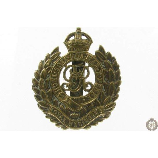 1I/077 - Royal Engineers Corps RE Cap Badge - George V