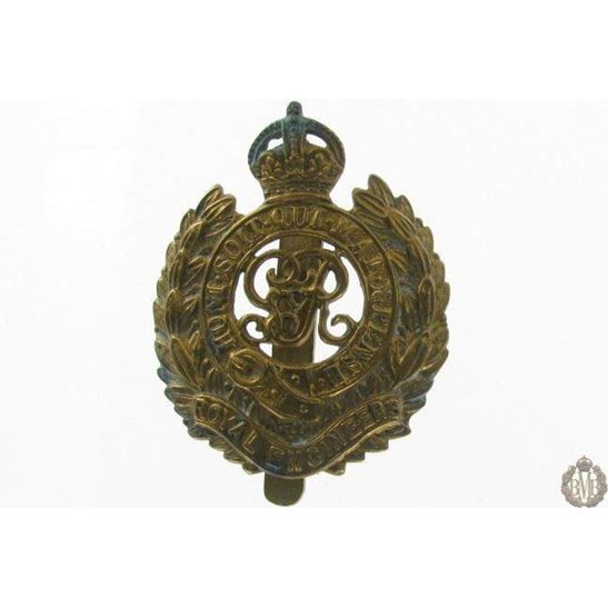 1I/088 - Royal Engineers Corps RE Cap Badge - George V