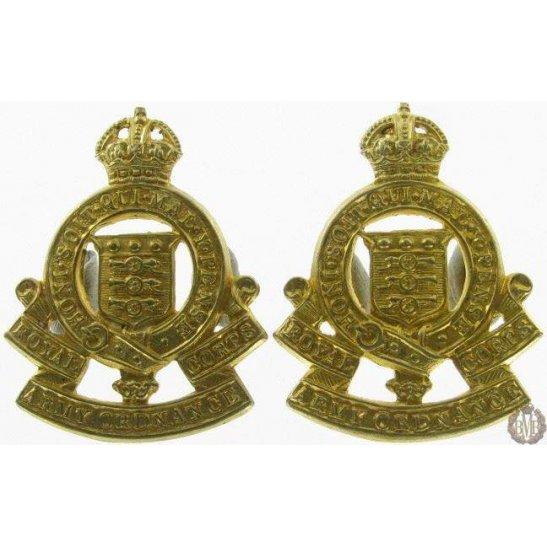 1I/126 - Royal Army Ordnance Corps RAOC Collar Badge Pair