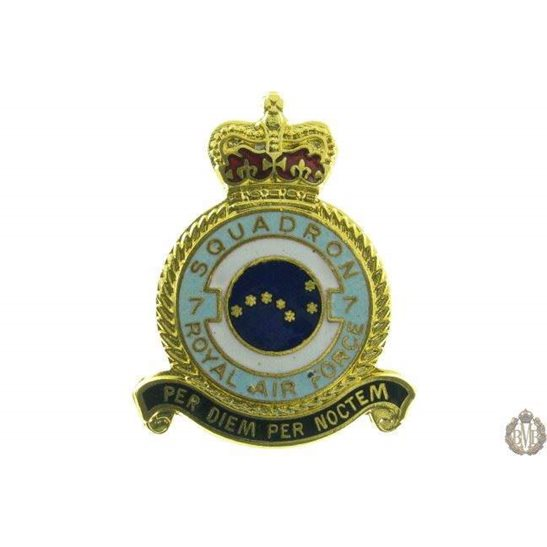 7 Squadron Royal Air Force Lapel Badge RAF