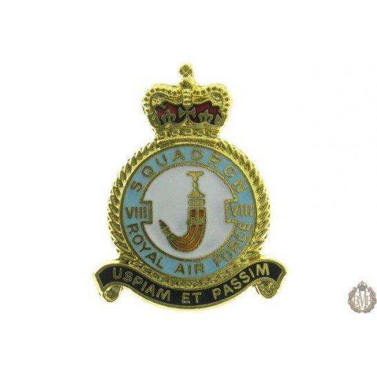 8 (VIII) Squadron Royal Air Force Lapel Badge RAF