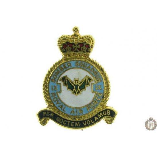 9 (IX) Bomber Squadron Royal Air Force Lapel Badge RAF