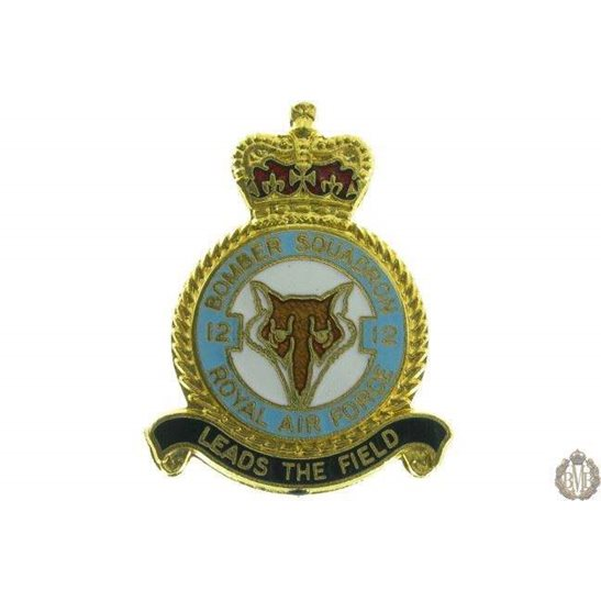 12 Bomber Squadron Royal Air Force Lapel Badge RAF
