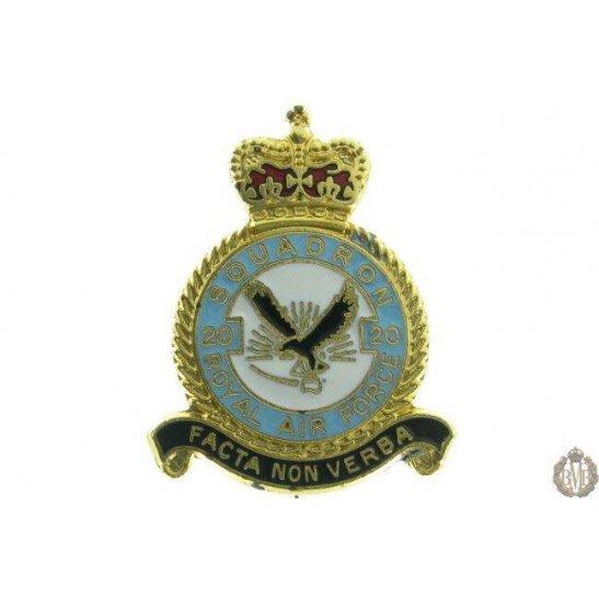 20 Squadron Royal Air Force Lapel Badge RAF