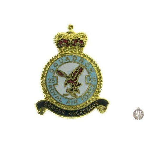 23 Squadron Royal Air Force Lapel Badge RAF