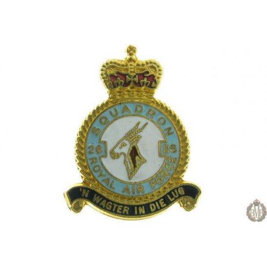 26 Squadron Royal Air Force Lapel Badge RAF